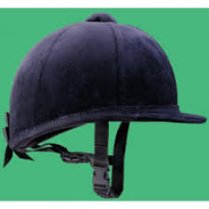 Young Rider Navy Velvet hat