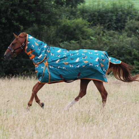 Gallop Equestrian Dogs Print 200g Combo Turnout Rug