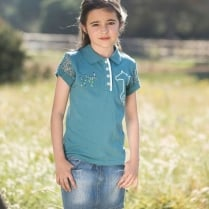 Girls Pique Polo Shirt