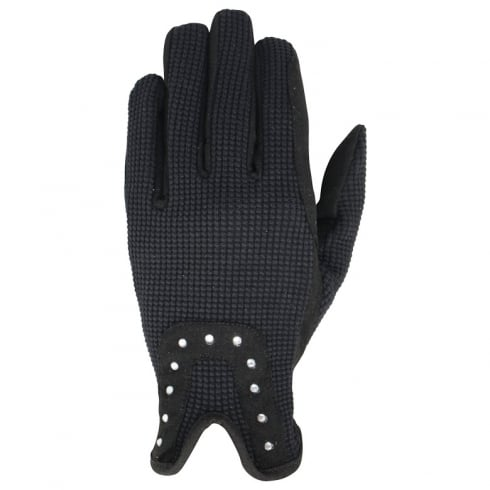 Hy5 Adults Diamante Riding Gloves