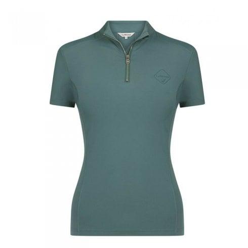 LeMieux Active wear short sleeve base layer sage