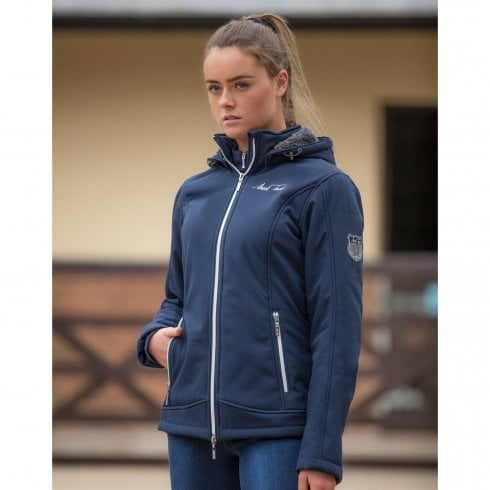 Mark Todd Ladies Softshell Fleece Lined Jacket - Navy