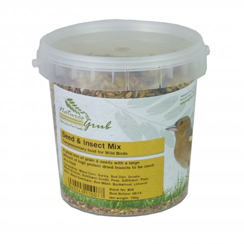 Natures Grub Seed & Insect Mix 700g