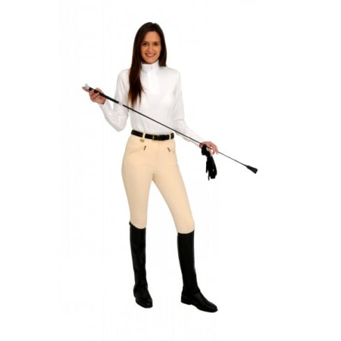 Rugged Horse Ladies Cream Competition Breeches W2