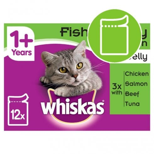Whiskas 1+ Fish and Meaty Selection