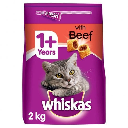 Whiskas 1+ With Beef Tasty Filled Pocket