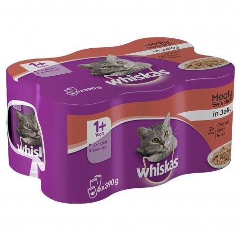 Whiskas Meaty Selection in Jelly Cans